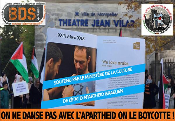 Boycott d'un spectacle soutenu par le ministère de la culture israélien au théâtre municipal Jean Vilar à Montpellier